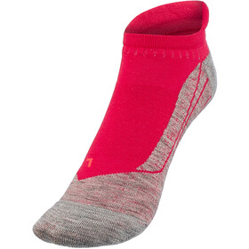 Falke RU4 Calze da corsa invisibili Donna, rosso/grigio